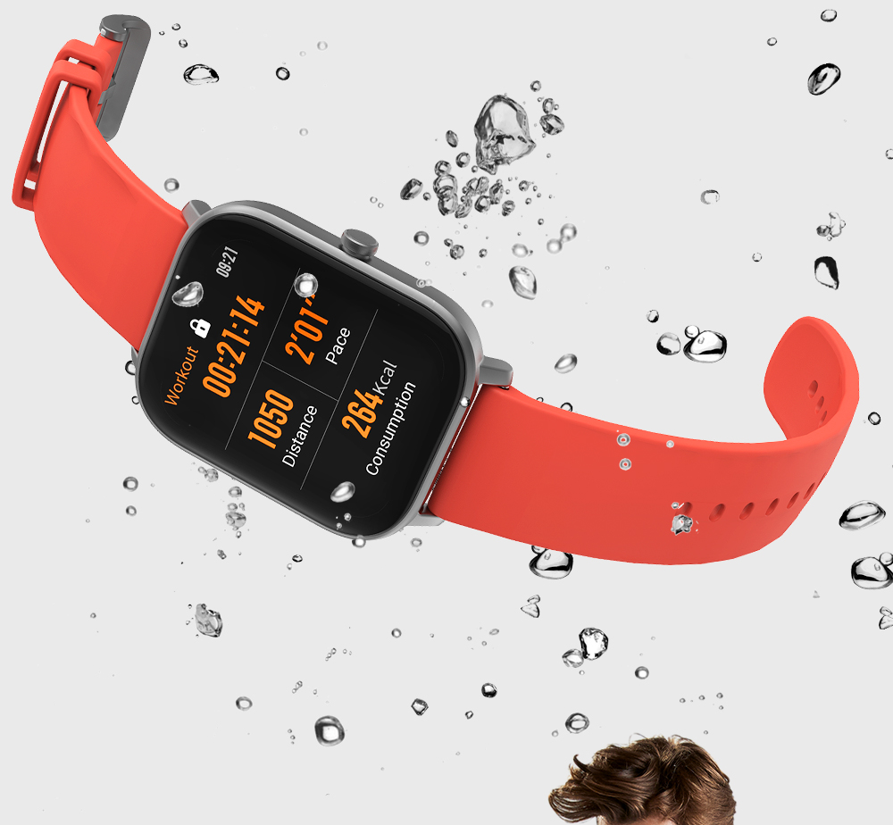 Amazfit GTS Heart Rate Waterproof Bracelet for Apple Payment Outdoor GPS Positioning Sports Smart Watch - Black