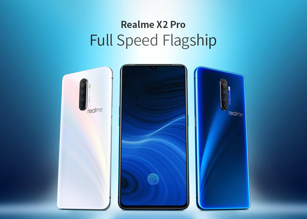 OPPO Realme X2 Pro 4G Phablet 8GB RAM 128GB ROM Global Version- Blue