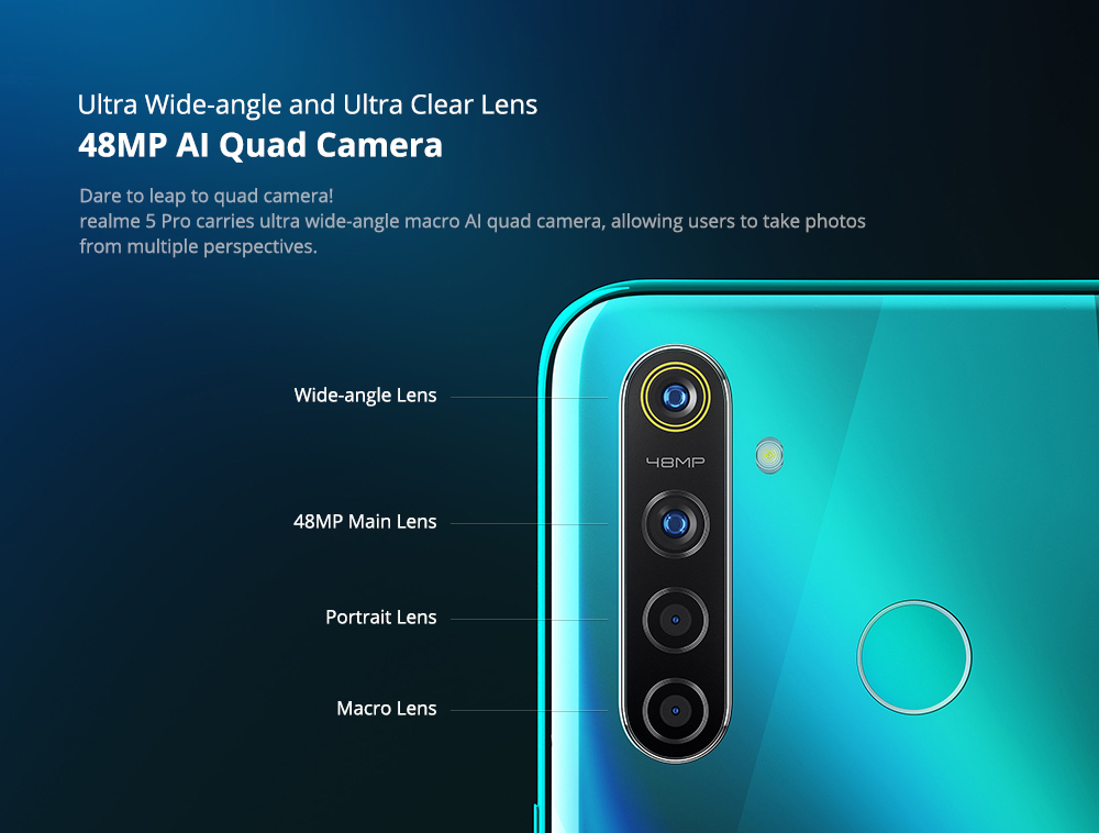 REALME 5 PRO BANNER 48MP AI QUAD CAMERA - ALEZAY