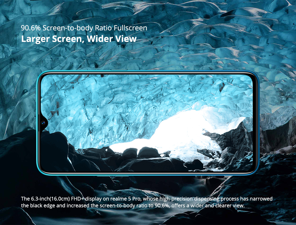 REALME 5 PRO BANNER LARGER SCREEN WIDER VIEW - ALEZAY
