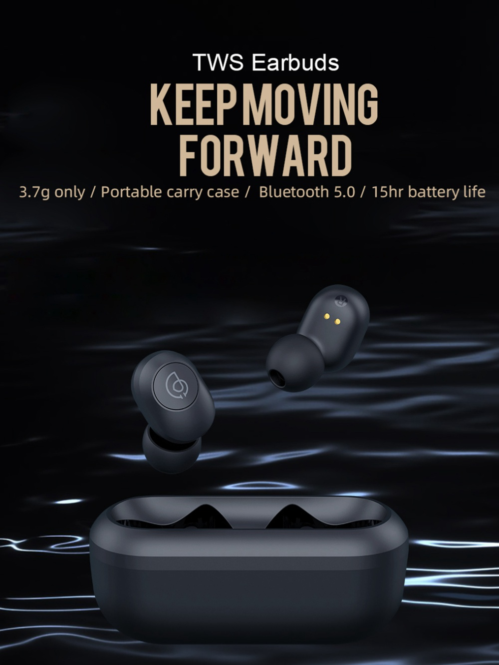 Haylou GT2 TWS True Wireless Bluetooth 5.0 Earphone Mini Portable Stereo Binaural Earbuds- Black