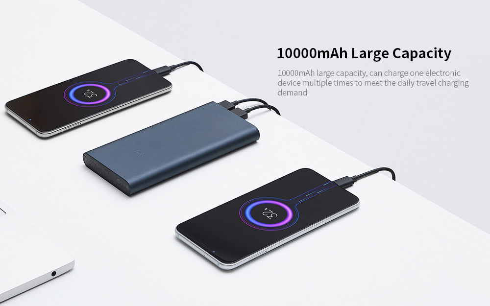 Original Xiaomi PLM13ZM 10000mAh Power Bank 3- Silver