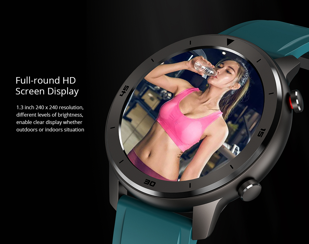 DTNO.1 DT78 1.3 inch Health Care Fitness Tracker Smart Sports Watch- Blue