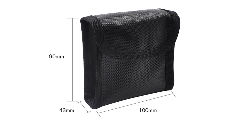 STARTRC Battery Fire And Explosion Protection Bags Pouch Bag For DJI MAVIC MINI- Black 1Pc