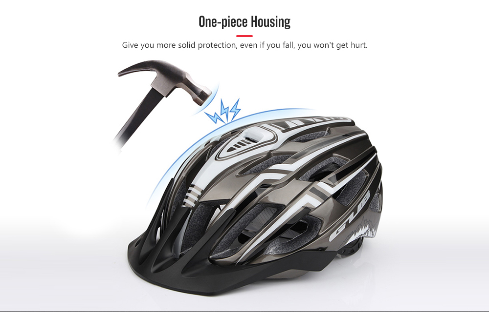 GUB A2 Riding Helmet with Rechargeable Taillight- Black