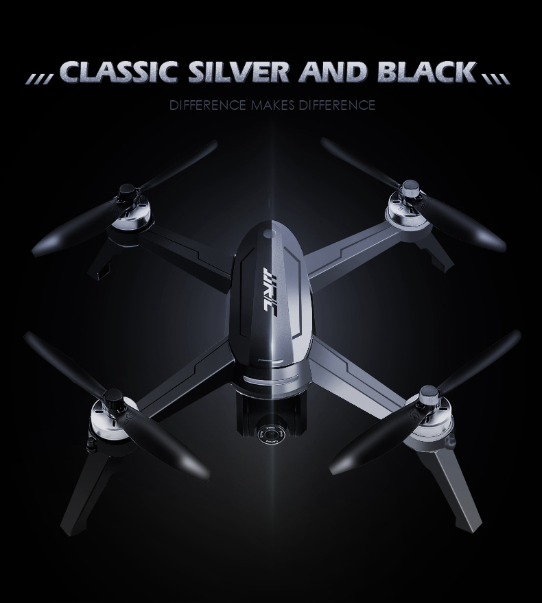 JJRC X5 EPIK 5G WiFi FPV RC Drone GPS Positioning Altitude Hold 2K HD Camera Point of Interesting Follow Brushless Motor- Black One Battery with color box