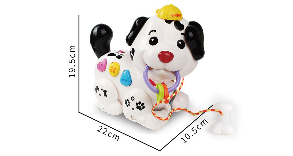Singing Puppy Training Comprehensive Ability Of Baby Toys- Black