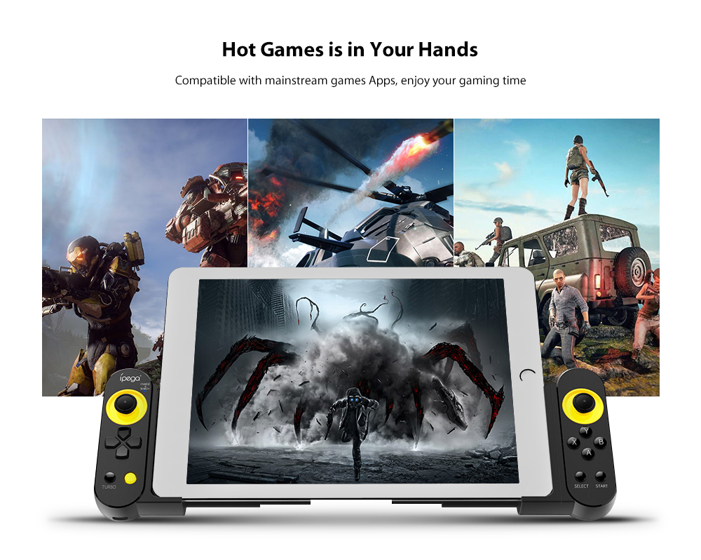 iPEGA PG-9167 Retractable Wireless Bluetooth Game Controller Gamepad- Black