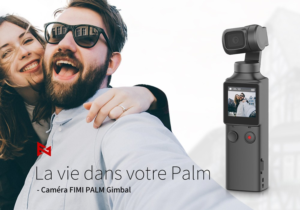FIMI 4K HD PALM Handheld Gimbal Camera - Black