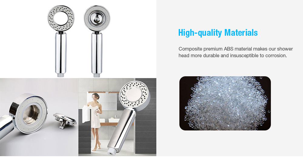 Double-sided Water Pressurized Shower Head- Silver