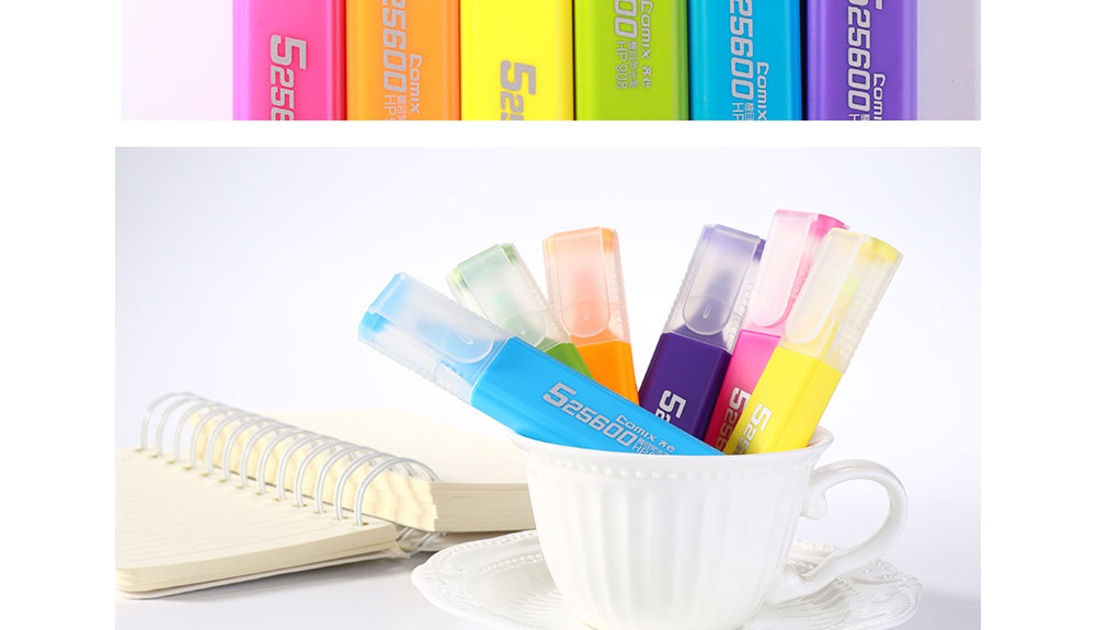Comix HP908 Best Highlighter 1-5MM (10pcs) Colorful Choose- Multi 10pcs