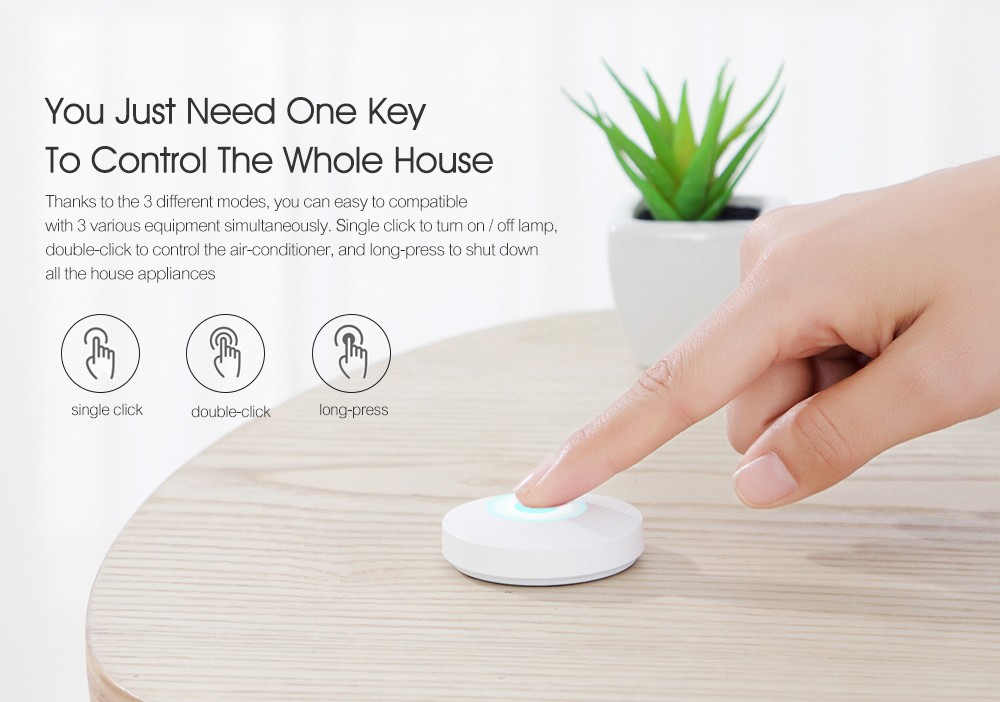 Xiaomi Mijia Smart Switch Intelligent Home Security Equipment with Smartphone App Control - White SMART WIRELESS SWITCH
