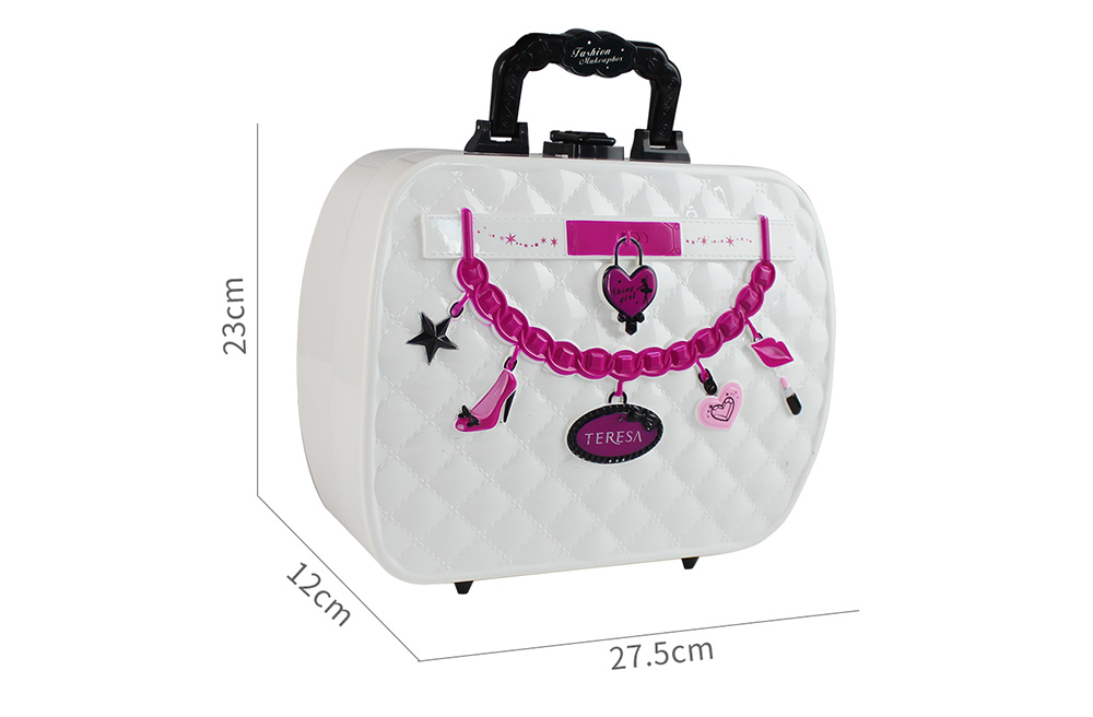 MoFun 22743 Cool Portable Water Soluble Makeup Cosmetics Cases Children Toy- White