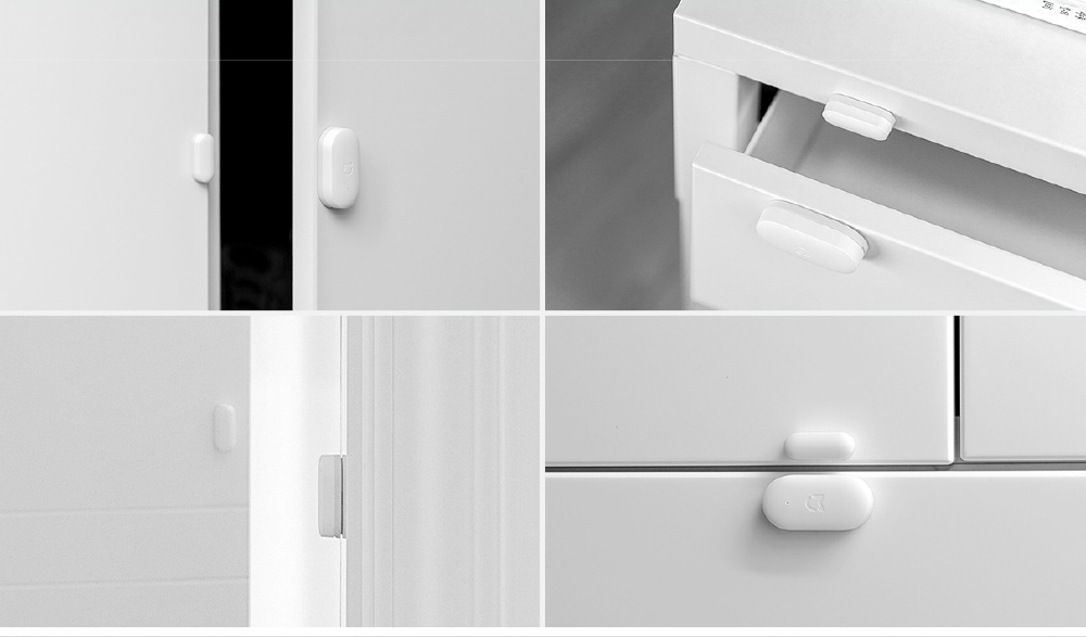 Xiaomi Mijia Smart Door Windows Sensor Intelligent Home Security Equipment with Smartphone App Control- White SMART DOOR AND WINDOWS SENSOR