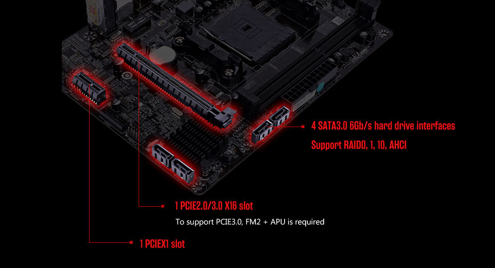 Colorful C.A68M-E All Solid Version V15 Motherboard with M-ATX Interface Type AMD A68 / Socket FM2+- Multi-A