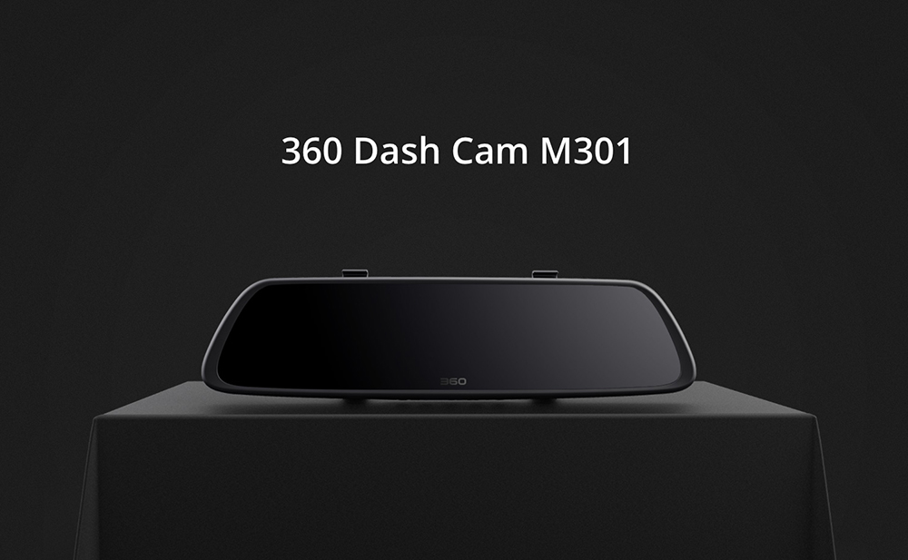 360 M301 Most Durable FHD1080P Smart Car DVR Dual Camera WiFi- Black