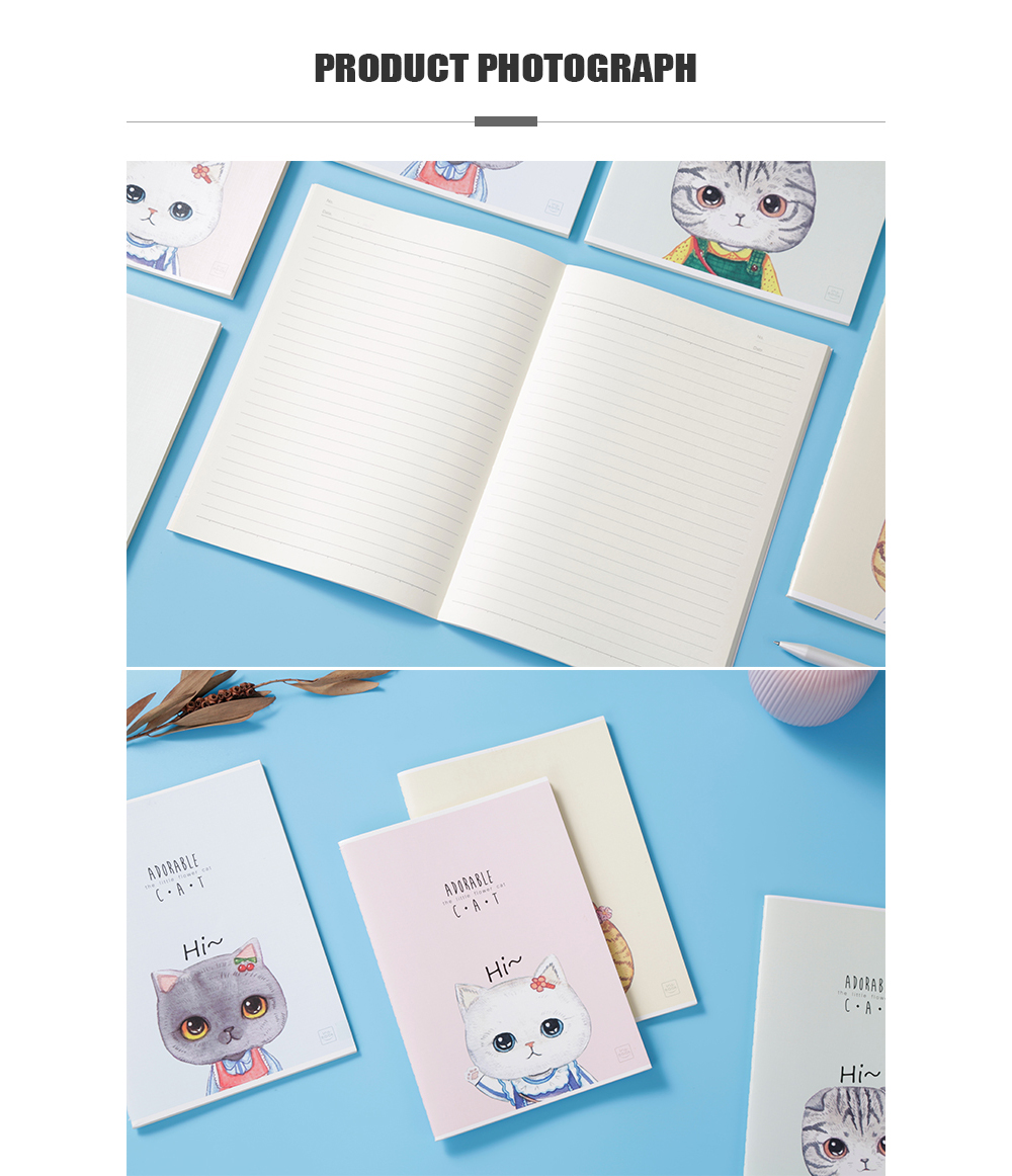 Comix CFA540-1 Cute Cat Series Composition Notebook A5 40SHEES 12PCS/PACK- Multi 12pcs