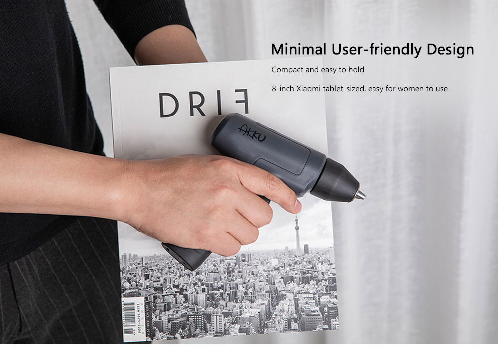 AKKU AK701 Multifunctional Brushless Two-speed Lithium Drill from Xiaomi youpin- Cloudy Gray
