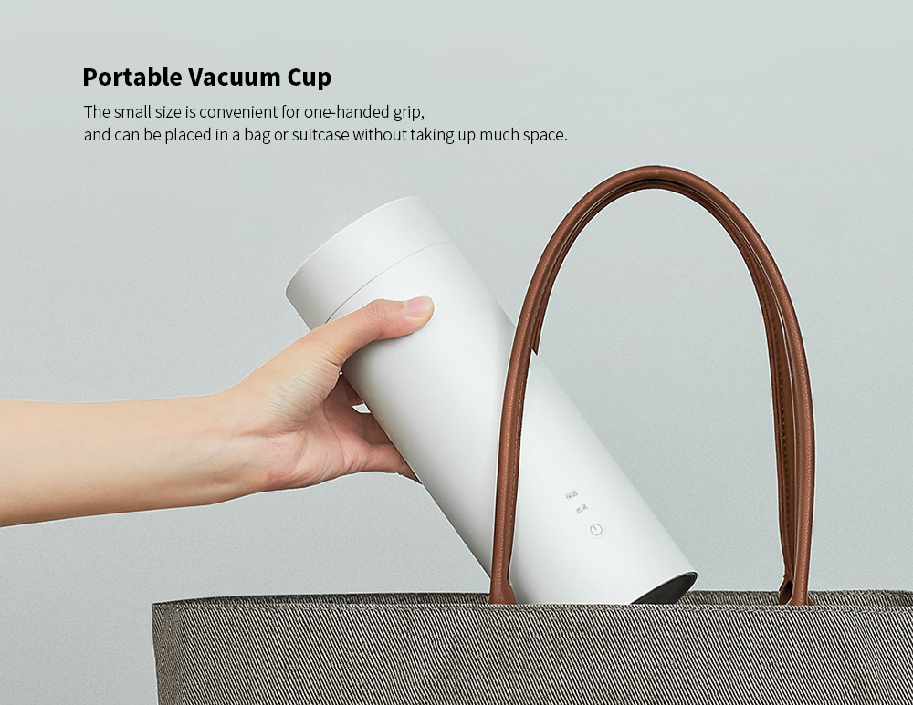 VIOMI Portable Travel Electric Heating Vacuum Cup from Xiaomi youpin - White Chinese Plug (3-pin)