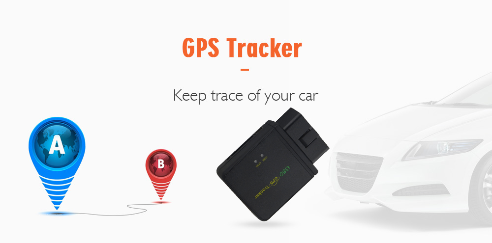 75-Y Mini Car OBD GPS Tracker Anti-theft Real-time Tracking Device- Black