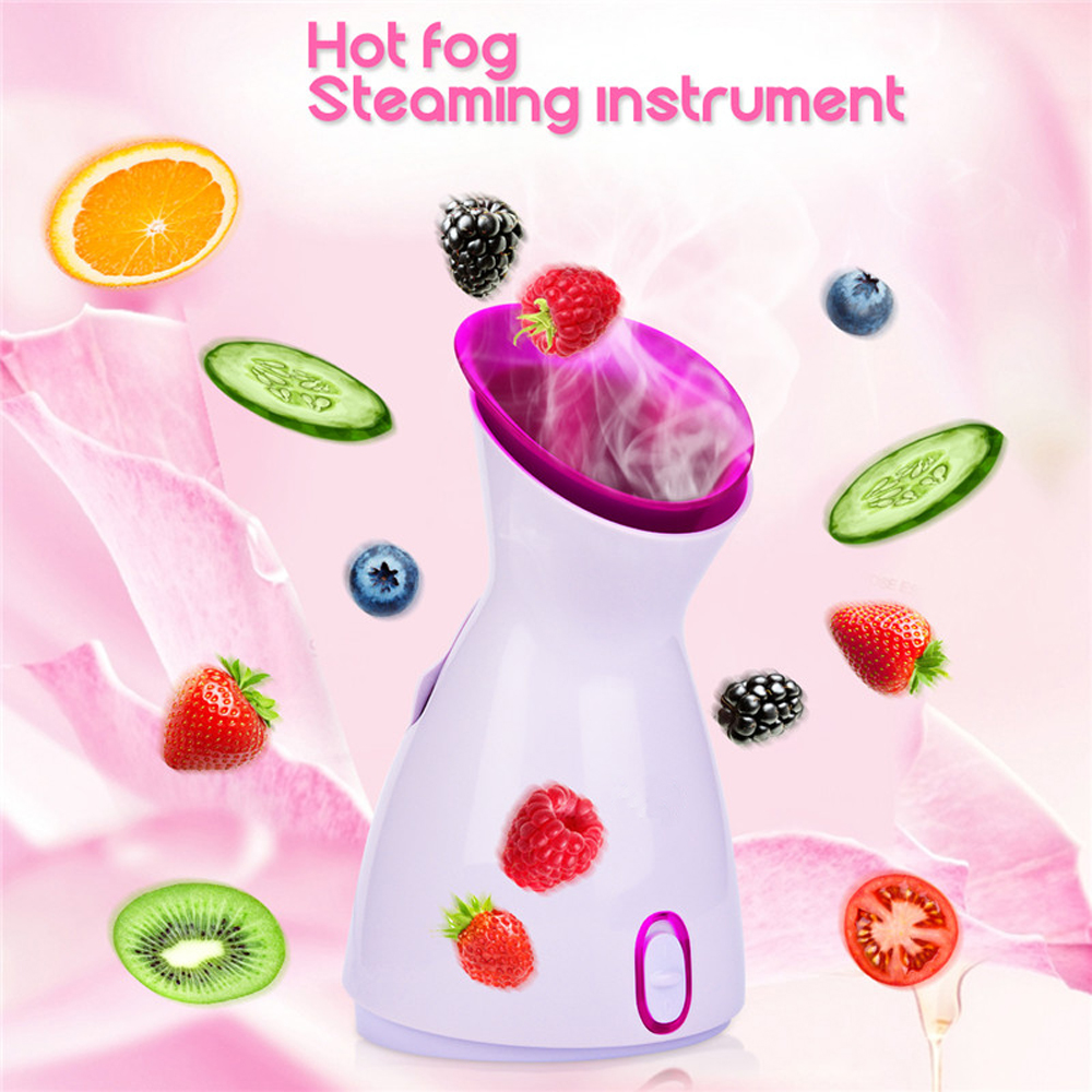 Nice Facial Steam Humidifier SPA Thermal Spray Water Pore Cleaner- Milk White