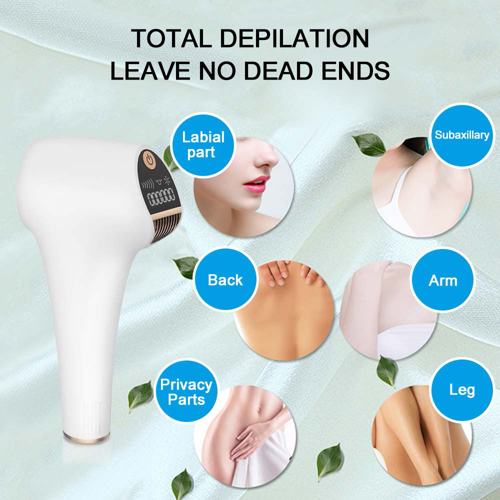 Durable Portable Nice Laser Handheld Human Hair Removal Instrument Unisex- Milk White