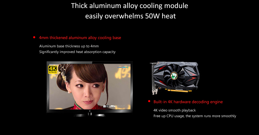 MAXSUN RX550-4G Graphics Card with 14nm Core Process Single Fan Cooling 6000MHz 4GB 128-bit GDDR5 Display Interface HDMI + DP + DVI- Black