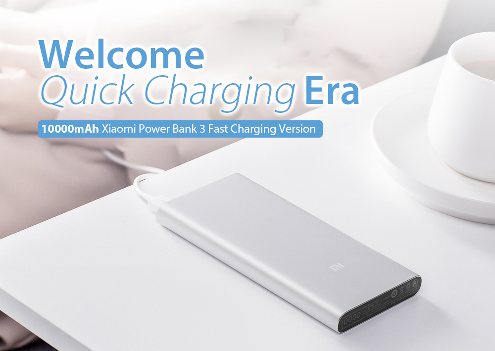 Xiaomi Portable Power Bank 3 10000mAh 18W Two-way Quick Charge Fast Charging Version - Black