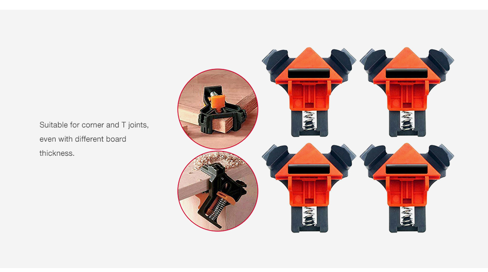 Multifunctional Frame Right Angle Clips 4pcs- Black
