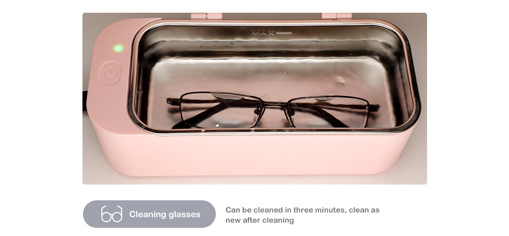 High Frequency Cleaning Ultrasonic Cleaner- Pink EU Plug