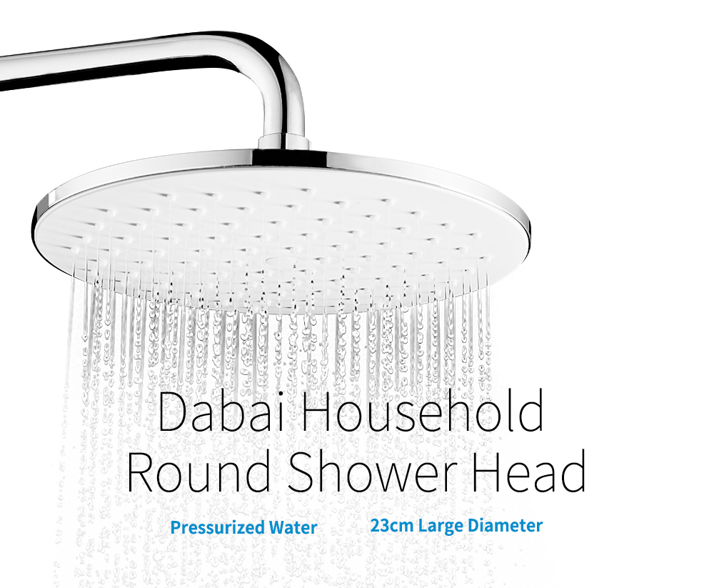 Dabai DMDP001 Large Round Shower Head Pressurized Overhead Shower-caddy ( Xiaomi Ecosystem Product )- Silver