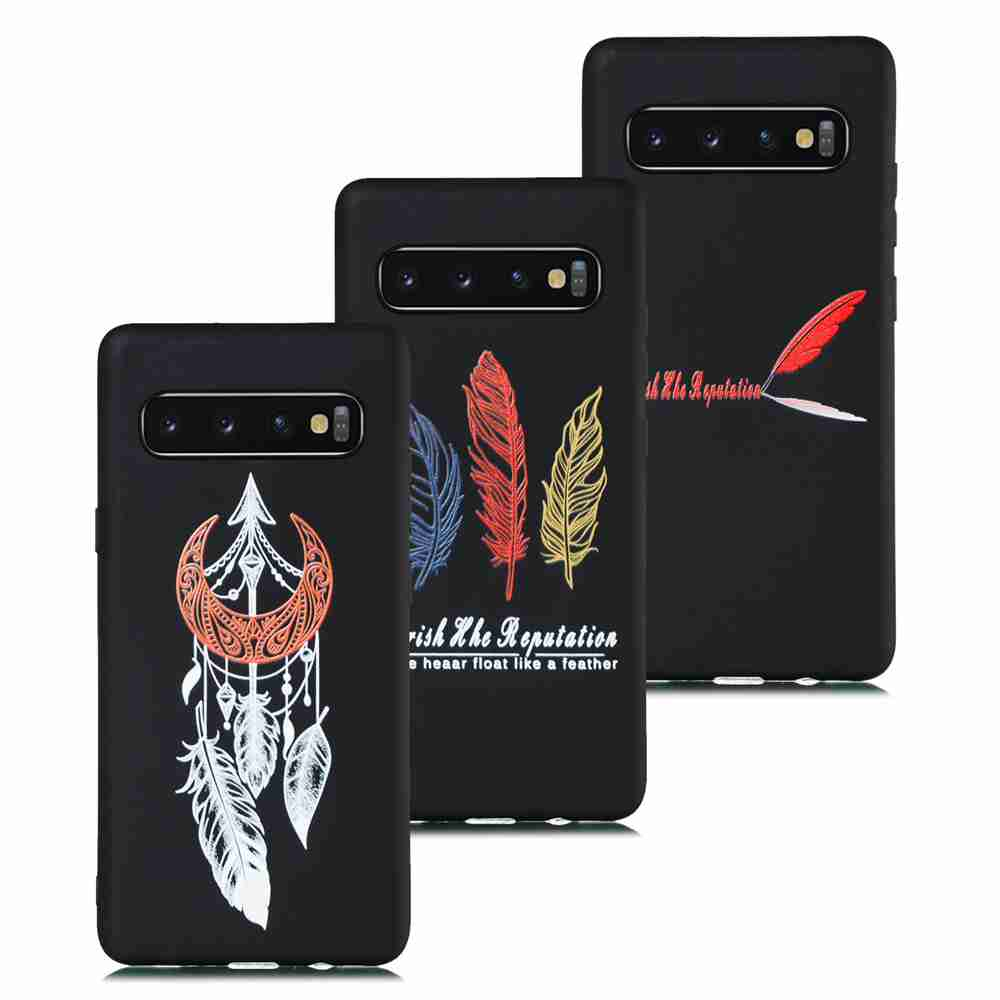 TPU Frosted Painted Phone Case for Samsung Galaxy S10 5G- Multi-J