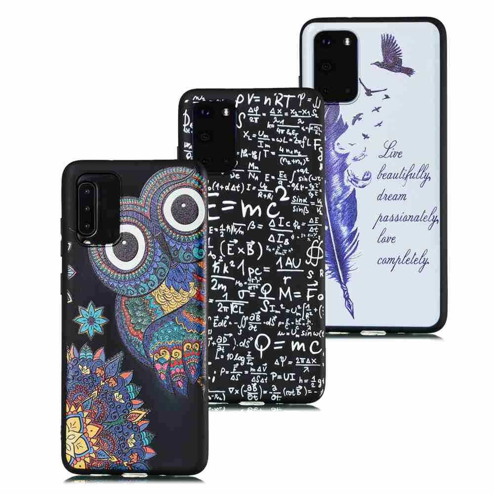 TPU Frosted Starry Sky Painted Phone Case for Samsung Galaxy S20 Ultra- Multi-C