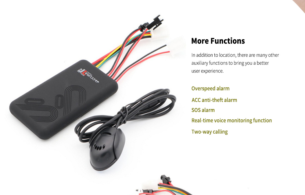 GT06 Car GPS Tracker Locator with Relay Remote Power Off - Black