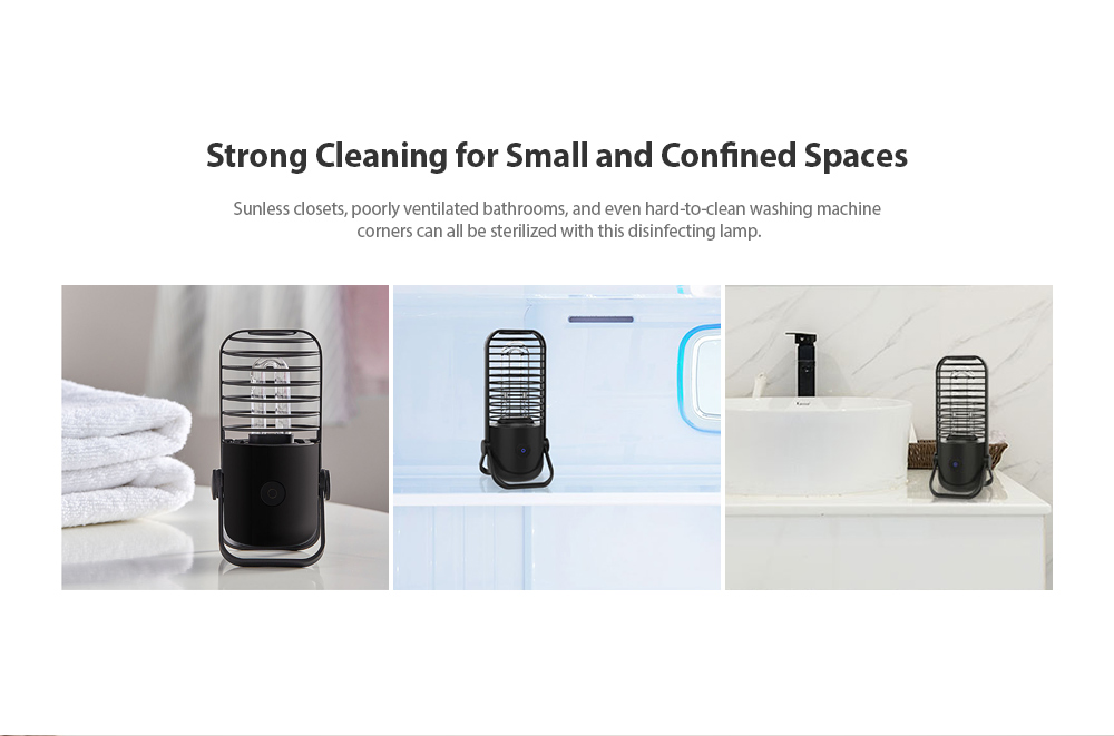 Xiaoda Disinfection of Small Lamp UV Disinfection Lamps from Xiaomi Youpin- Black