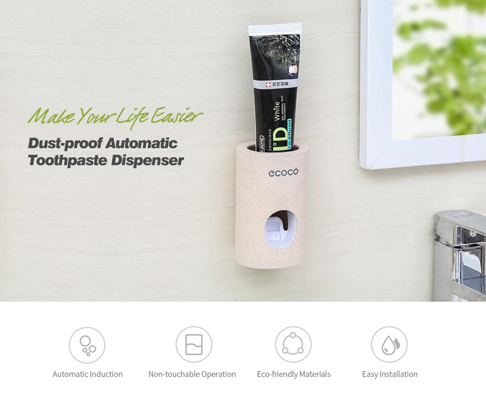 Dust-proof Automatic Toothpaste Dispenser- Apricot