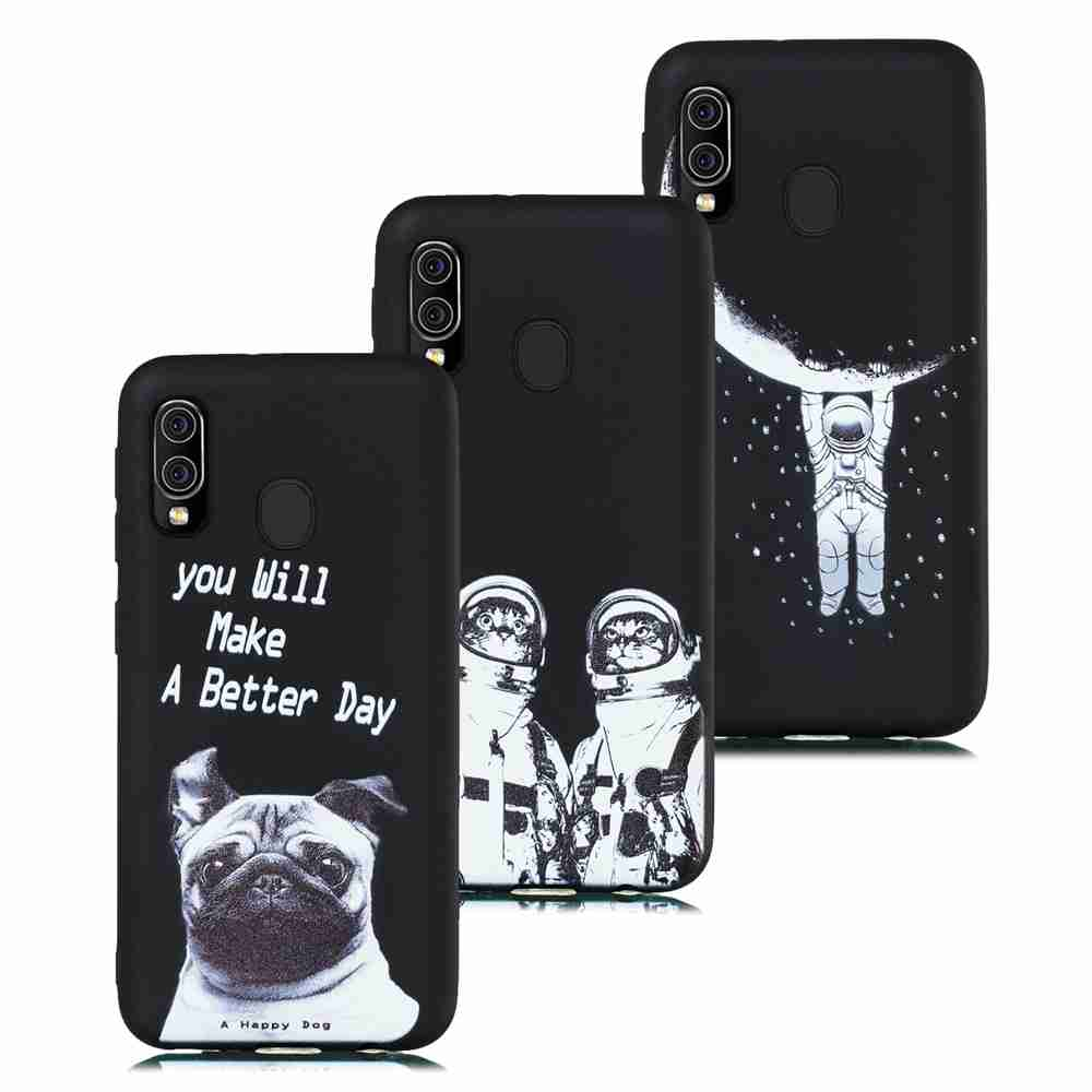 Frosted Painted TPU Phone Case for Samsung Galaxy A20E- Multi-I
