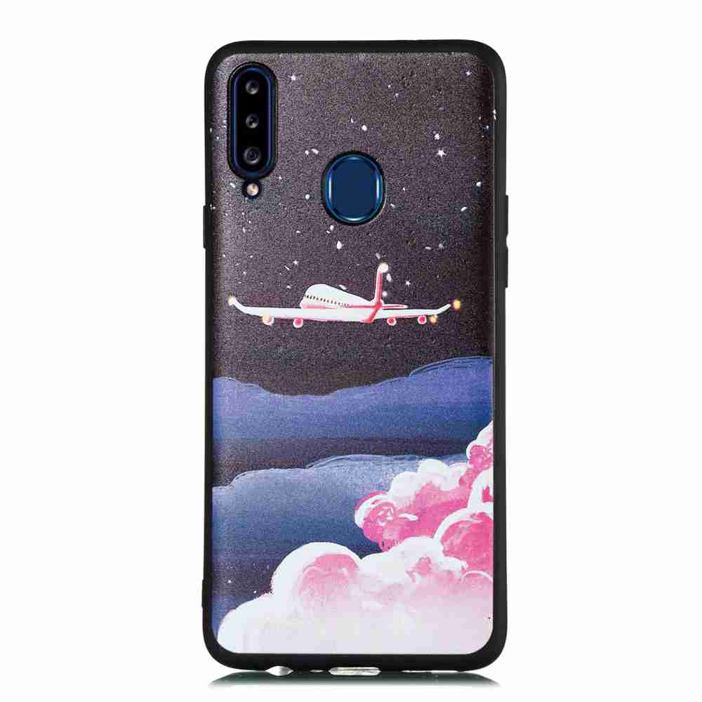 Frosted Starry Sky Phone Case verniciato per Samsung Galaxy A20S- Multi Colori-A
