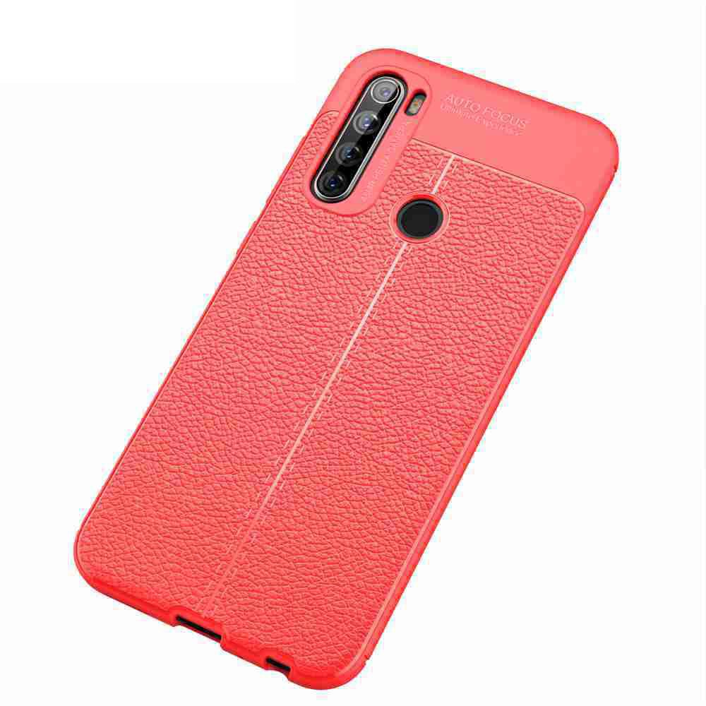 Phone Case solido di colore in fibra di carbonio Texture in pelle per Xiaomi redmi Nota 8T- Cadetblue