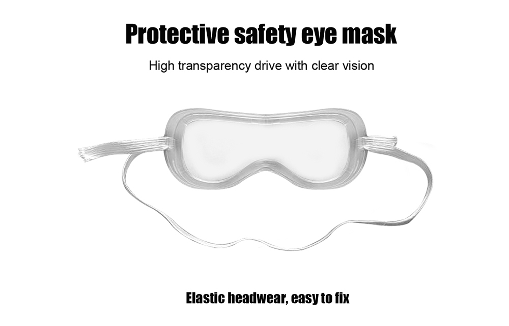 Anti-dust Splash Goggles Dust-proof Wind Sandproof Shock Resistant Glasses Protective Goggles- Transparent