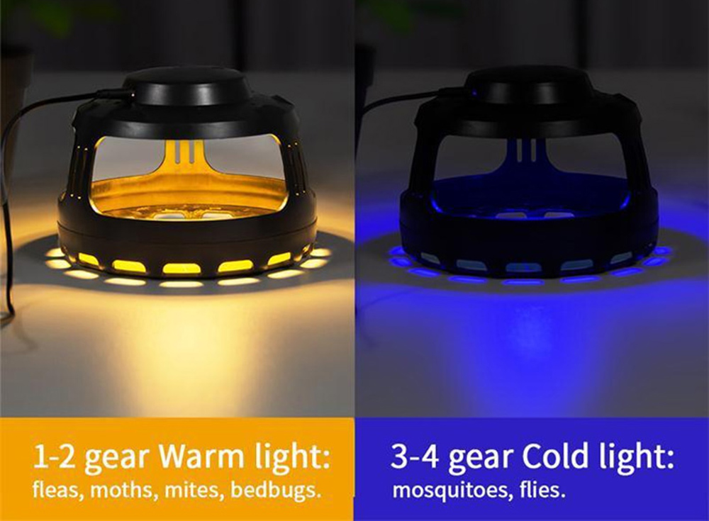 BRELONG Sticky Trap Mosquito Repellent USB Lamp Multifunction Flea Moths Bug Insects Pest Killer- Black