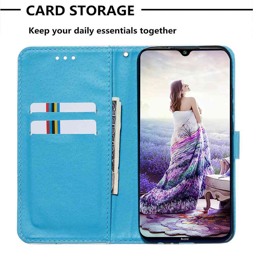 Stray Earth Painted PU Phone Case for Xiaomi Redmi Note 8- Multi-D