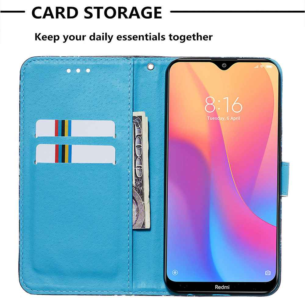 Stray Earth Painted PU Phone Case for Xiaomi Redmi 8A- Multi-K