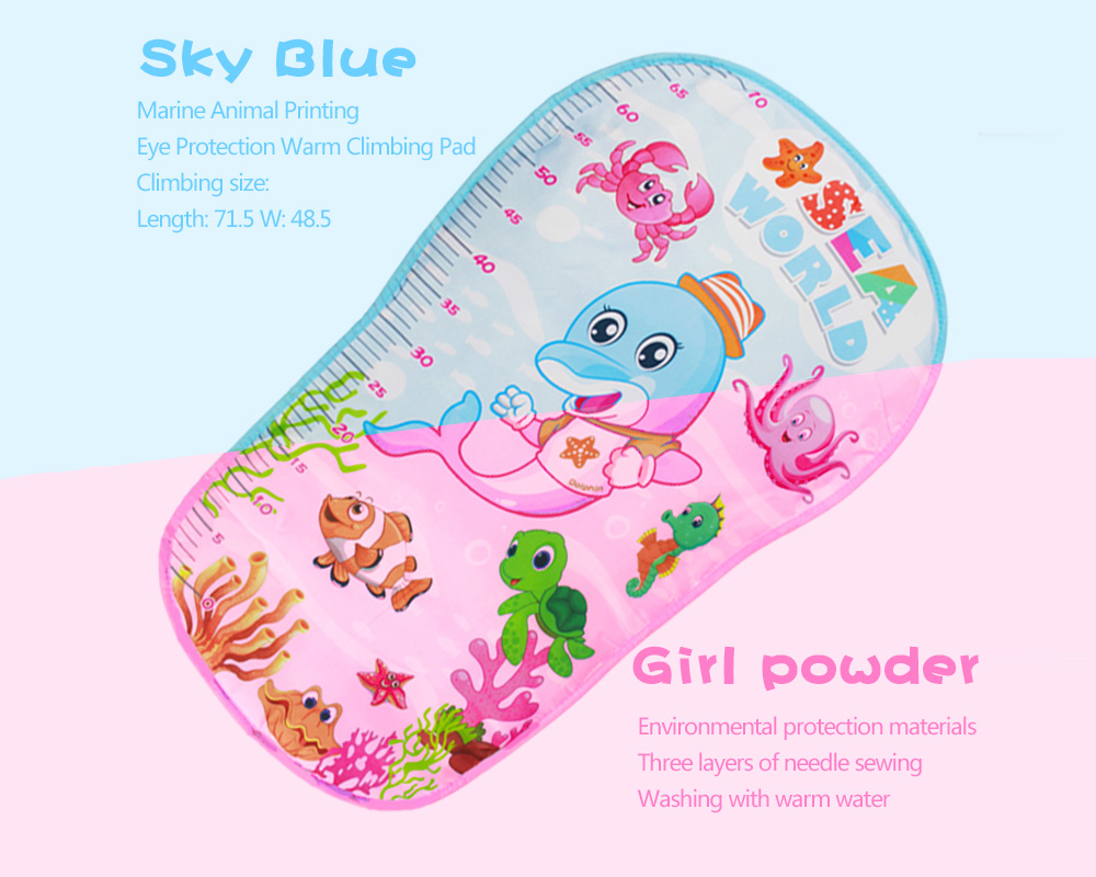 0305 Baby Foot Piano Music Game Blanket- Blue
