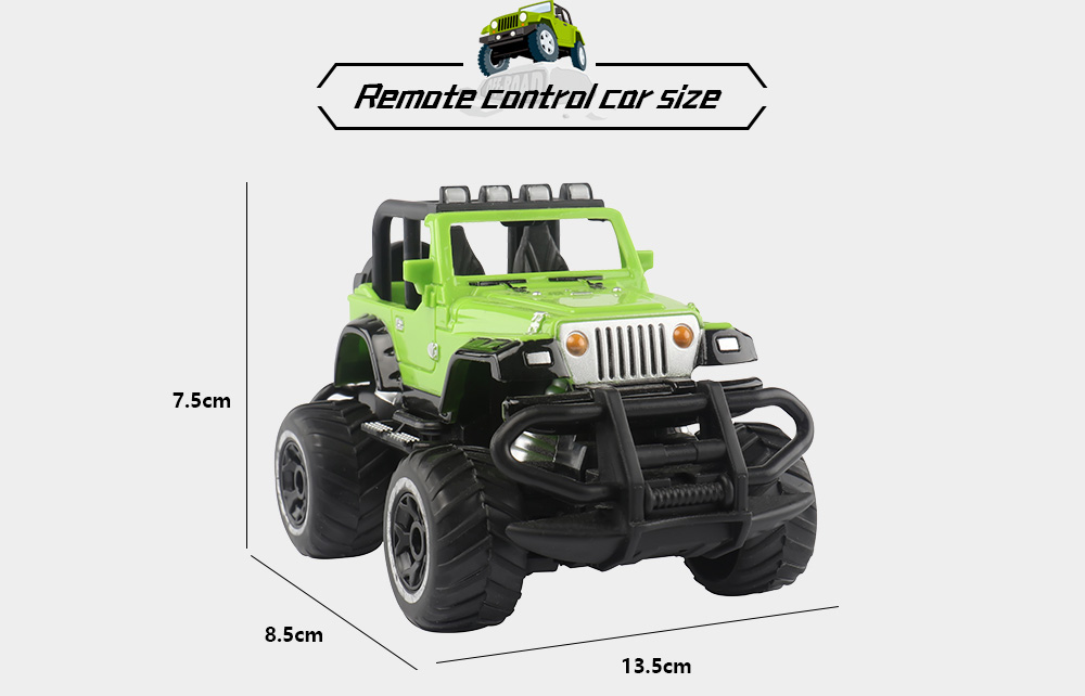 6146 1:43 Mini Four-Channel Remote Control Off-road Vehicle Car- Green