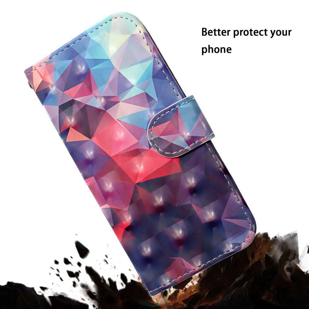 Laser 3D painting PU Phone Case for Iphone 11 Pro Max- Multi-J