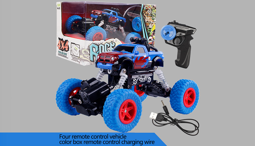 1:22 Electric Four-wheel Drive Remote Control Car Remote Control Off-road Vehicles- Blue