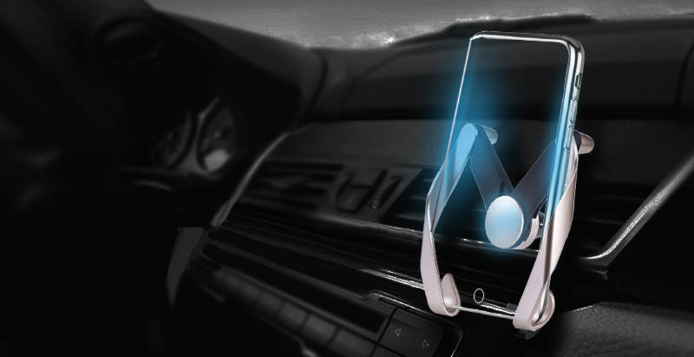 Cradle Adjustable Stand Mini Car Air Vent Holder Mount for Cell Phone GPS Car-Styling- Black