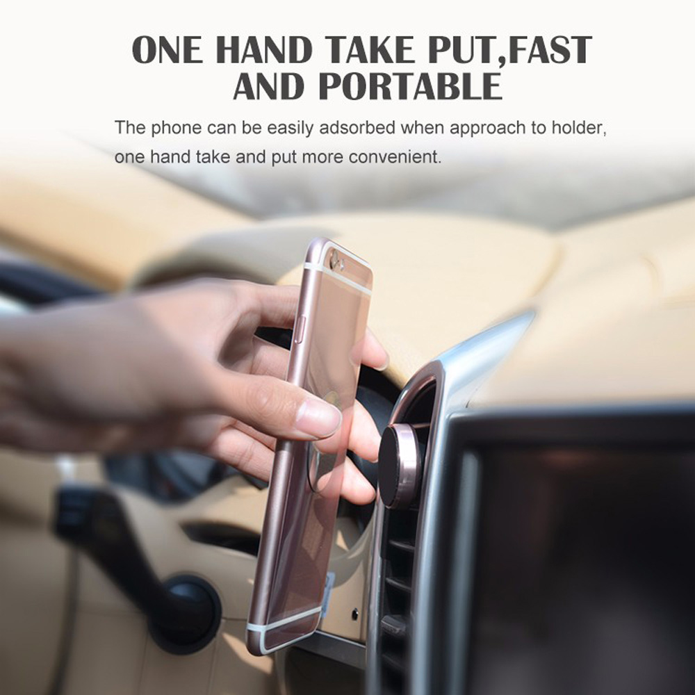 Universal Magnetic Car Phone Holder Stand for Smart Phone / Air Vent / GPS- Black