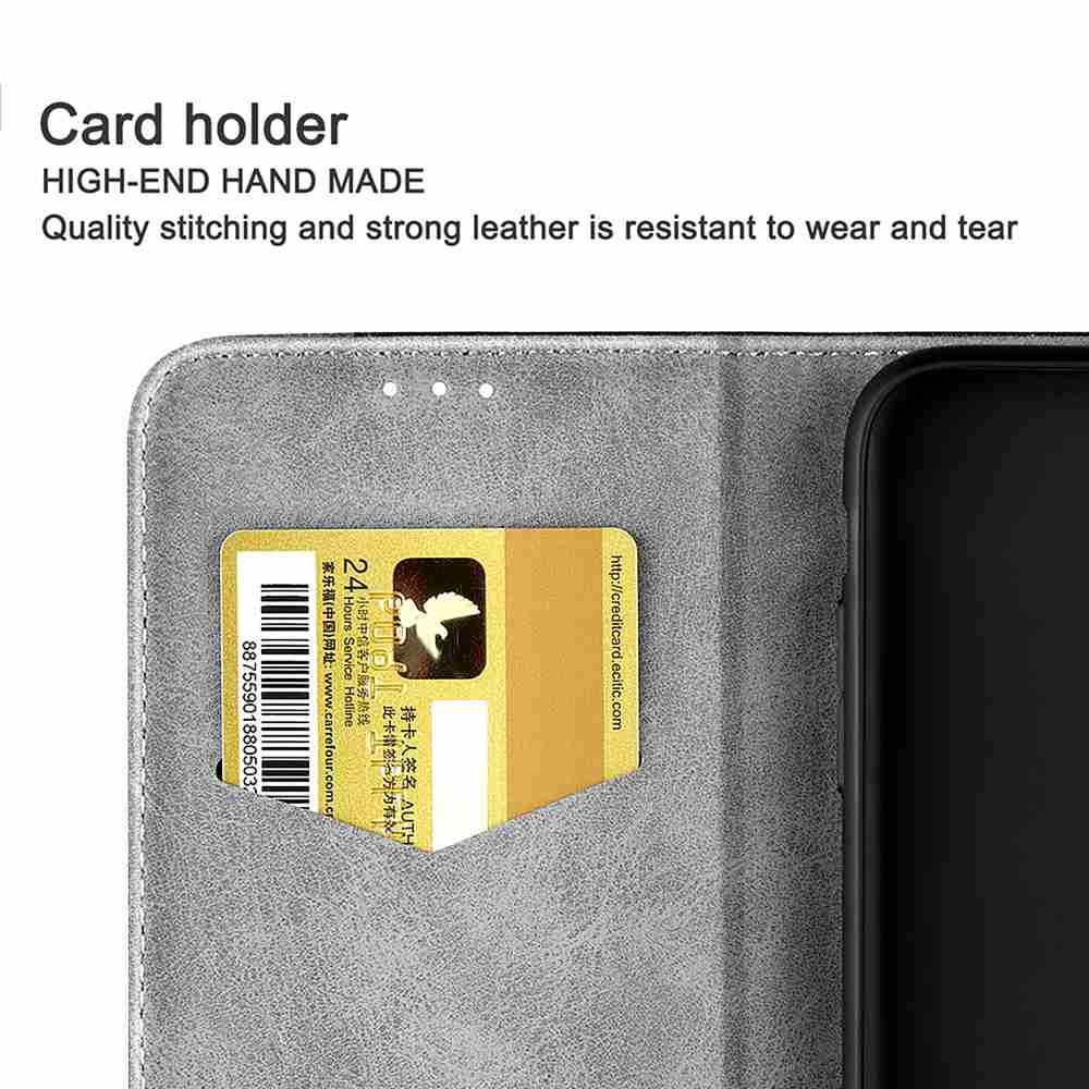 Business Stitching PU Phone Case for Iphone 11 Pro- Brown